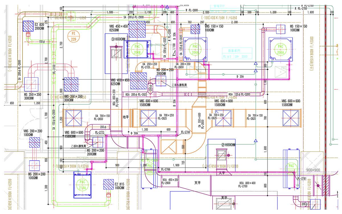 設備施工図作成業務