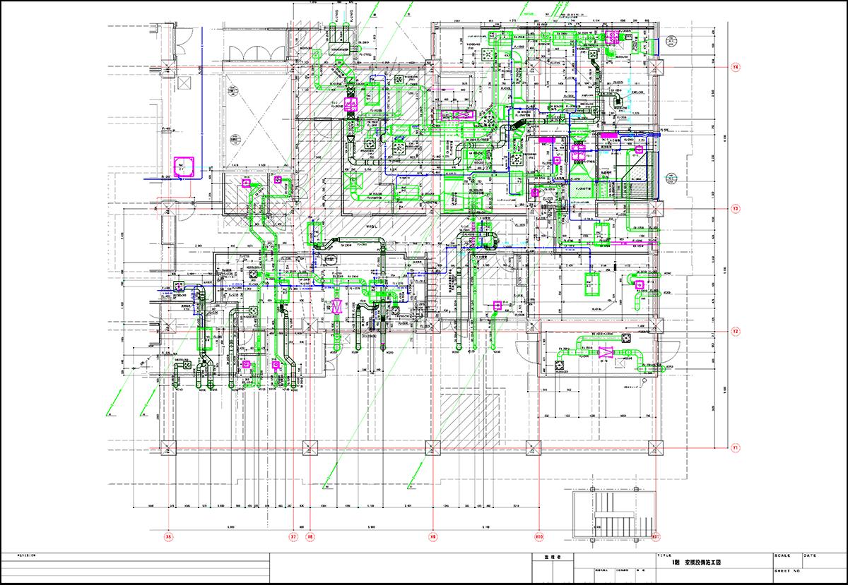 空調設備施工図
