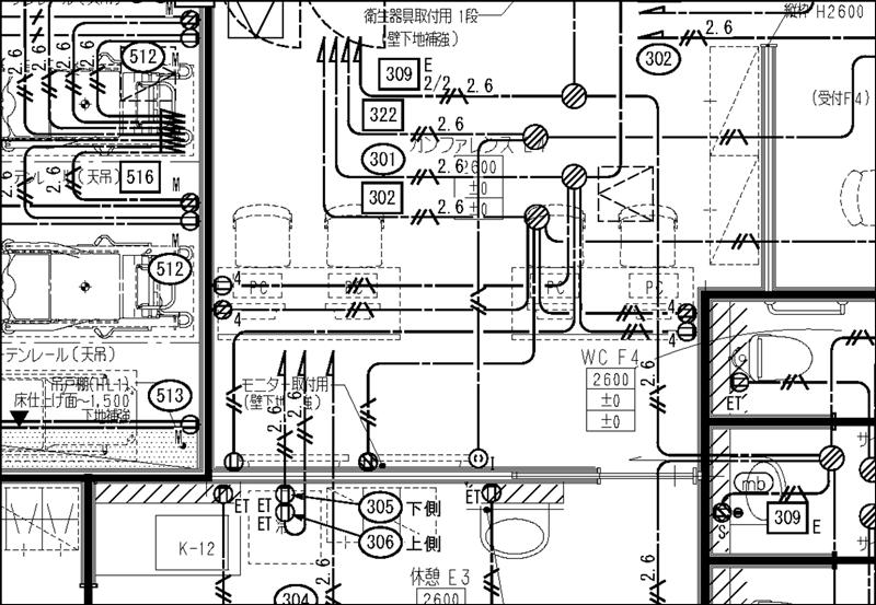 コンセント図|建築施工図面