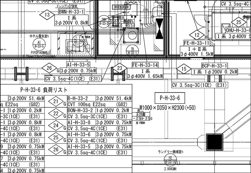 動力図|電気設備図面