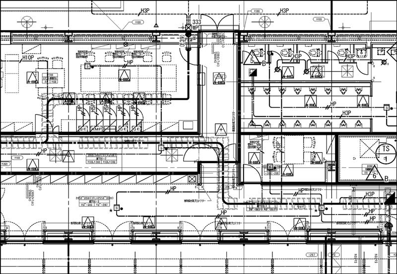 自動火災報知設備図|電気設備図面