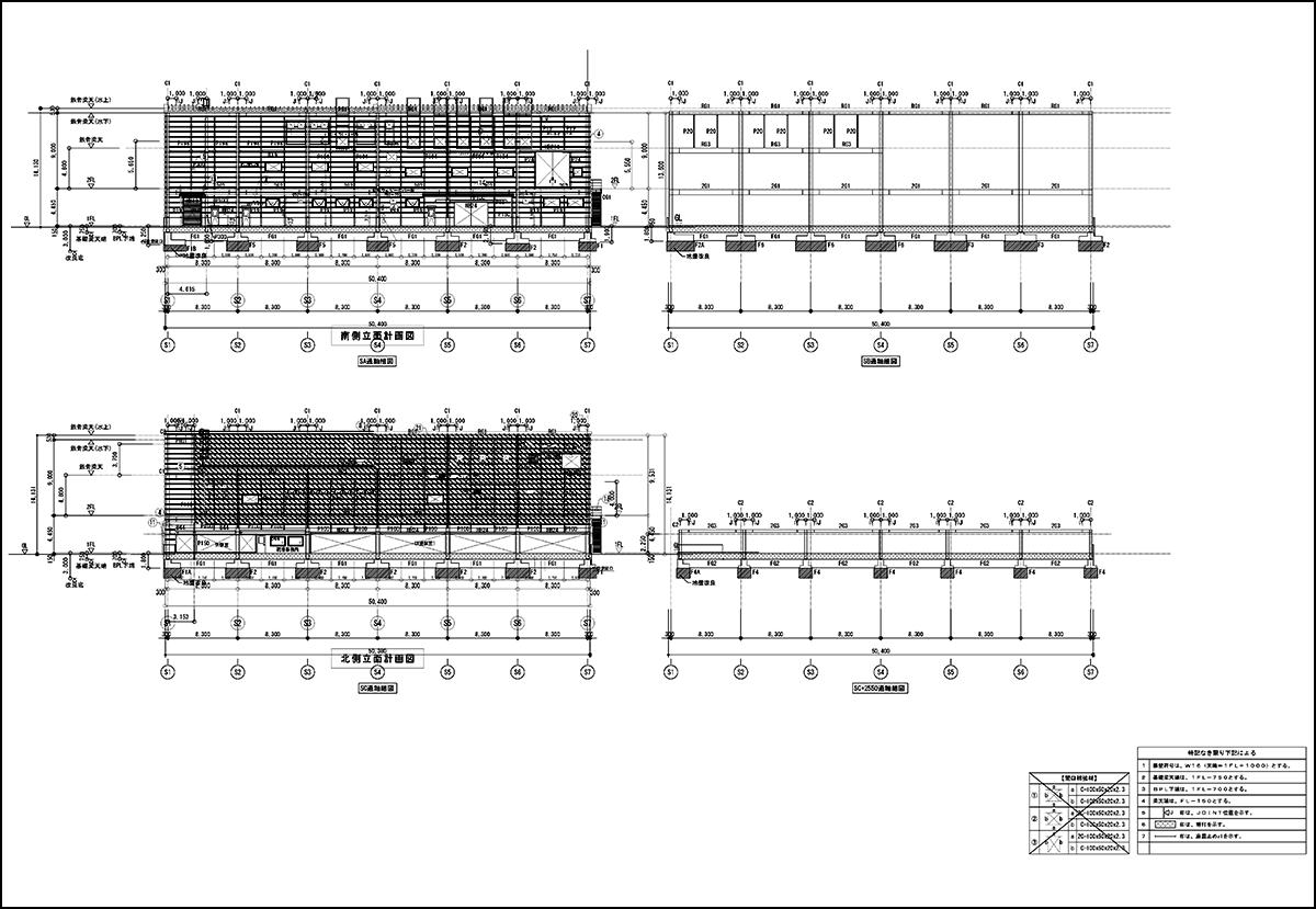 軸組図|建築施工図面
