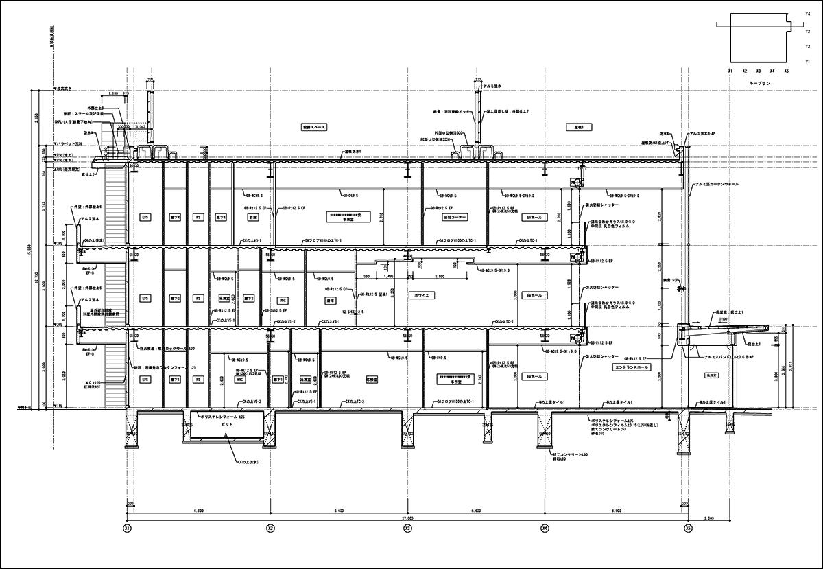 矩形図|建築施工図面